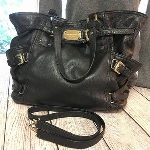 MICHAEL KORS Large Black Leather GANSEVOORT Bag
